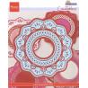 Vyřezávací šablony - krajkový kruh (MD)