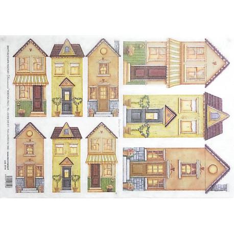 Papír rýžový 35x50 Domky (5114)