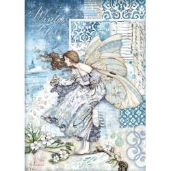 Papír rýžový A4 Winter Tales, víla ve větru