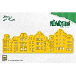 Vyřezávací šablona - historické domy (Nellie´s Choice)