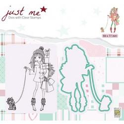 Set razítka a šablony - Vánoční nákupy (Nellie´s Choice)