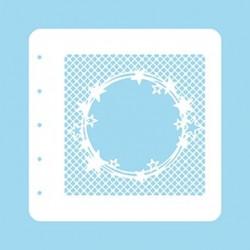 Šablona Hvězdy v kruhu na síťovaném pozadí (Nellie´s Choice)