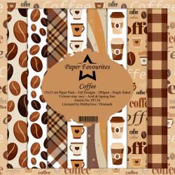 Sada papírů 15x15 Coffee (PF)