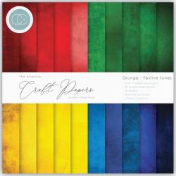 Sada papírů 15x15 Grunge Festive Tones (CC)