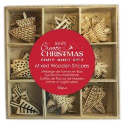 Dřevěné ozdoby Vánoční stromky 10,5x10,5