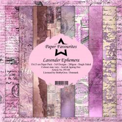 Sada papírů 15x15 Lavender Ephemera (PF)