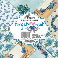 Sada papírů Forget-Me-Not 20x20 (Decorer)
