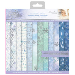 Sada papírů 15x15 Glittering Snowflake (Crafter´s Companion)