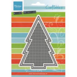 Vyřezávací šablony - Vyšívací mřížka, vánoční strom (MD)