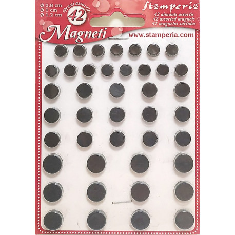 Sada magnetů 42ks, tři velikosti (Stamperia)