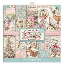 Sada papírů 20,3x20,3 190g Pink Christmas