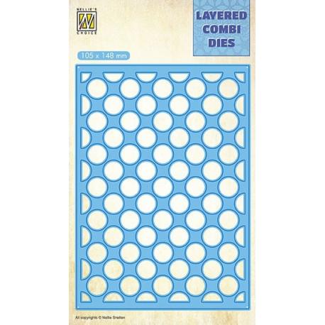 Vyřezávací šablona Layered Combi Dies - bubliny A