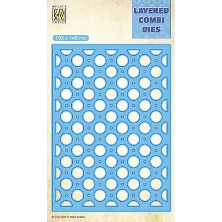 Vyřezávací šablona Layered Combi Dies - bubliny B