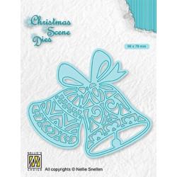 Vyřezávací šablona Vánoční obraz - Zvonky (Nellie´s Choice)