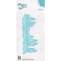 Vyřezávací šablona Vánoční obraz - Zimní krajina, srnky (Nellie´s Choice)