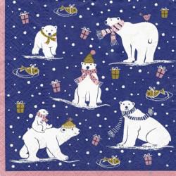 Vánoční lední medvědi 33x33