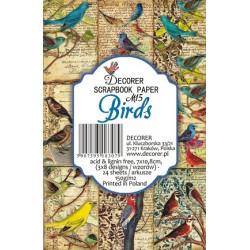 Sada scrap.kartiček 7x10,8cm - Birds (Decorer)