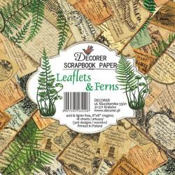 Sada papírů Leaflets & Ferns 20x20 (Decorer)