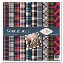 Sada papírů 31x32cm - Skotský styl (ITD)