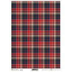 Papír rýžový A4 Skotský styl, červené káro