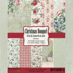 Sada papírů 15x15 200g Christmas Bouquet (REPRINT)