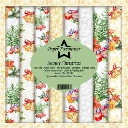 Sada papírů 15x15 Snowy Christmas (PF)