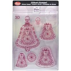 3D Razítka D29 Vánoční ozdoby zvonky (F)
