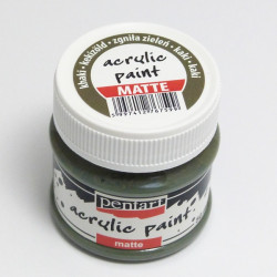 Akrylová barva Pentart 50ml - khaki, matná