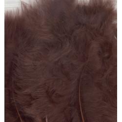 Peříčka Marabu 15ks, hnědé