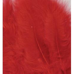Peříčka Marabu 15ks, červené