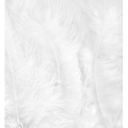 Peříčka Marabu 15ks, bílé