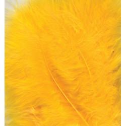 Peříčka Marabu 15ks, žluté
