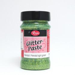Glitter Paste 90ml - světlá zelená peridot (F)