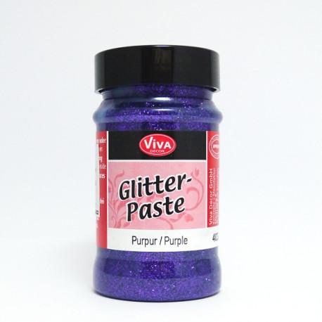 Glitter Paste 90ml - purpurová (F)