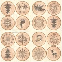 Dřevěná kolečka s obrázky 33x33