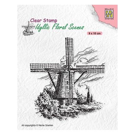 Transp.razítko Idylická scéna - Větrný mlýn (Nellie´s Choice)