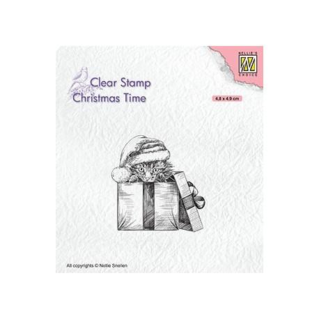 Transp.razítko Vánoční dárek (Nellie´s Choice)