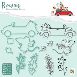 Set razítek a šablon Rowan - vánoční myšky 4 (Nellie´s Choice)