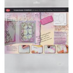 Šablona pro tvorbu obalu - krabička na čajové svíčky (F)