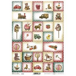 Papír rýžový A4 Malé vánoční obrázky, s hračkami