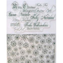Transp.razítka D10 Vánoční pozadí a nápisy (F)