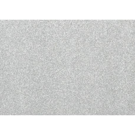 Moosgumi třpytivá stříbrná, A4 list