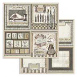 Calligraphy, 4 obrázky 30,5x30,5 scrapbook