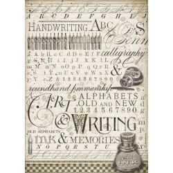 Papír rýžový A4 Calligraphy, inkoust