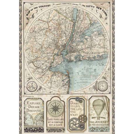 Papír rýžový A4 Sir Vagabond, mapa New York