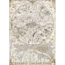 Papír rýžový A4 Lady Vagabond, mapa Londýn