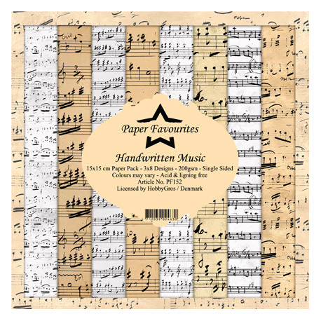 Sada papírů 15x15 Handwritten Music (PF)