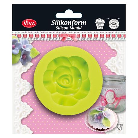 Forma silikonová - Květ růže (F)