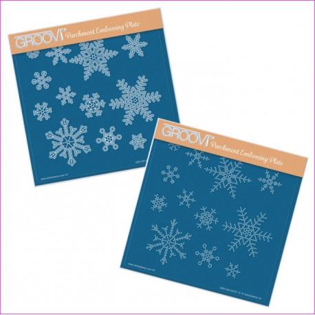 Sada akrylových desek - sněhové vločky (Groovi)