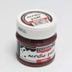 Akrylová barva Pentart 50ml - tmavá hnědá, matná